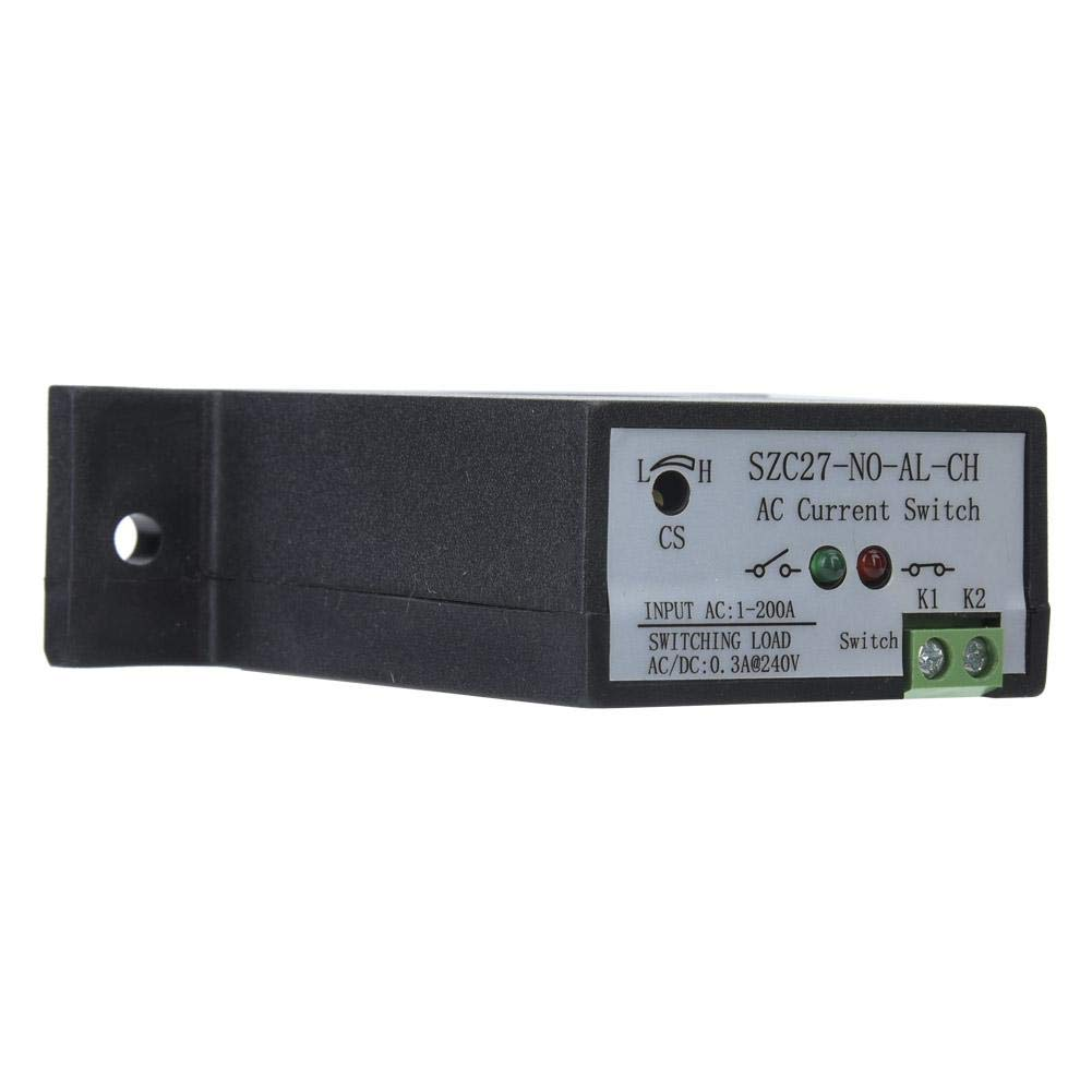 AC 1-200A High Precisio Self Supply Adjustable Normally Open AC Current Sensing Switch for Automated Industrial Equipment Store Monitoring Current Sensing Switch