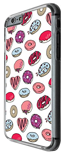 934 - Cool cute ful donut doodle collage food love sweet candy heart illustration art Design For iphone 6 Plus / iphone 6 Plus S 5.5'' Fashion Trend CASE Back COVER Plastic&Thin Metal -Clear