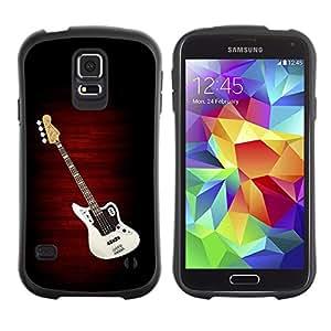Suave TPU GEL Carcasa Funda Silicona Blando Estuche Caso de protección (para) Samsung Galaxy S5 / CECELL Phone case / / Electric Guitar Minimalist B W /