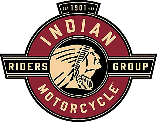 Craftmag Vinyl Sticker Indian Motorcycle Riders Group Premium Quality Decal Computer Cut Cars Bumpers Laptops Phones Water Bottles Walls, 3