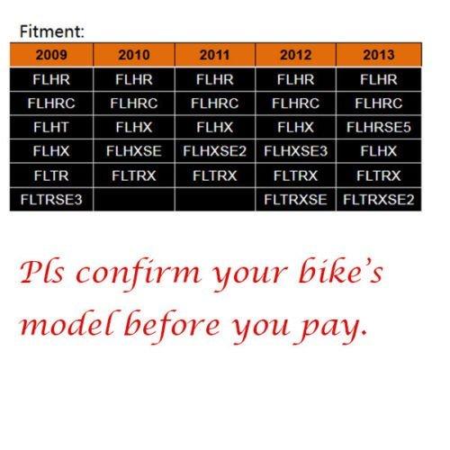 FLHRC FLHT FLTR TJMOTO Black Detachable Two-up Tour Pak Mounting Luggage Rack For 2009-2013 Harley-Davidson Touring FLHR FLHX FLHXSE FLTRX and FLTRXSE and 09 FLTRSE models
