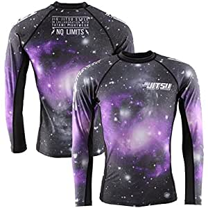 JJS X Tatami Galactic Rash Guard - Black-Purple - 2X-Large
