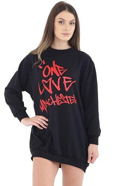 Momo&Ayat Fashions Mujer Chica Una Amor Manchester Sudadera Camiseta de Euros tamaño 36 – 44 Schwarz