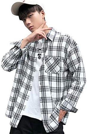 メンズ チェック シャツ 長袖 切り替え オシャレ カジュアル ワイシャツ 非対称設計 スタイリッシュ カッコイ 薄手 ストリート