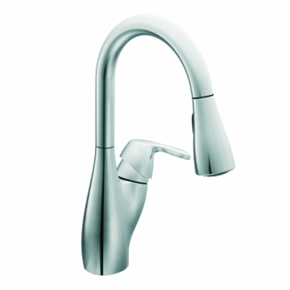 moen 7599c medora one handle high arc pulldown kitchen faucet