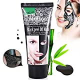 Black Peel Off Mask, Blackhead Remover Mask, Black Face Mask, Deep Cleansing Purifying Peel Off Acne Activated Natural Charcoal Black Mud Facial Mask(2.11 Ounce)