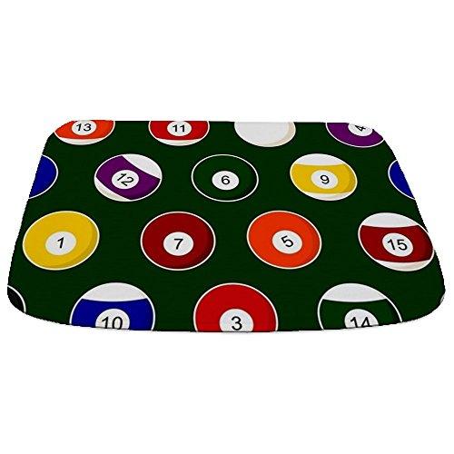- CafePress Green Pool Ball Billiards Pattern Decorative Bathmat, Memory Foam Bath Rug