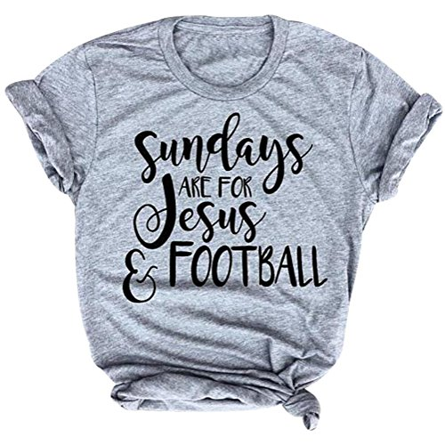 Sunday's are for Jesus and Football T-Shirt Funny Game Day Vintage Christian Shirt Size L (Game Day Football T-shirt)