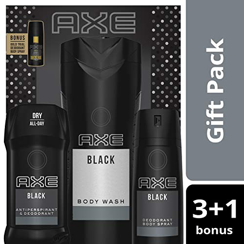 Black Gift Set Cologne - AXE 4pc Gift Set (Black)