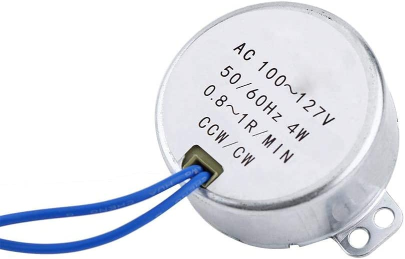 AC 100-127V 4W Synchronous Motor 50//60Hz CCW//CW Geared Motor with Temperature Control Protection Function 0.8-1RPM Wendry 1pc Synchronous Motor