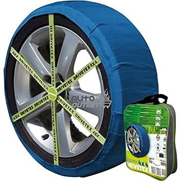 DRIVETEX4X4-47 - Kit compuesto por 2 fundas- cadenas textiles turismos DRIVETEX hielo/