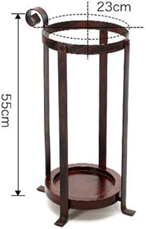 CXHMY Racks Vintage Round Schmiedeeisen Schirmst/änder Home Creative Schirmst/änder Farbe: Schwarz H55cm