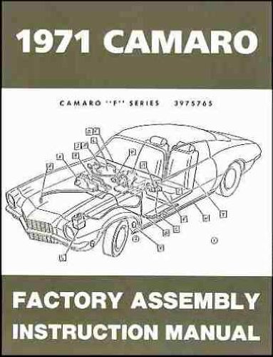 COMPLETE 1971 CHEVROLET CAMARO FACTORY ASSEMBLY INSTRUCTION MANUAL INCLUDES: Standard Camaro, Coupe, Z/28, Rally Sport, RS, Super Sport, SS, LT, Convertible. CHEVY 71 ()