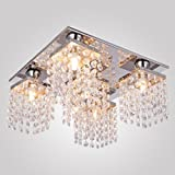 Crystal Ceiling Lamp Modern Home Ceiling Light fixture Flush Mount for Bedroom Living room max 25W 5 Lights