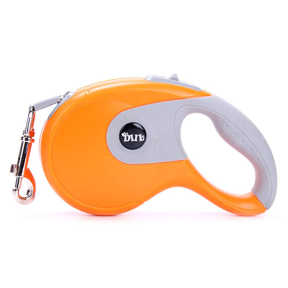 orange Small orange Small Dog Training Lead Retractable for Walking No Tangle, Walking Running Hiking for Small Medium Large Dog Cat, 3M 5M,orange,S