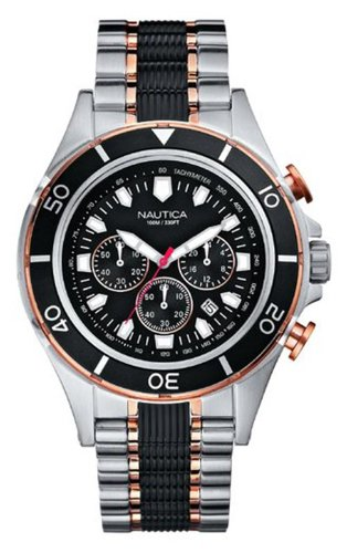 Nautica A45001G Men's Halyard Two Tone Chronograph