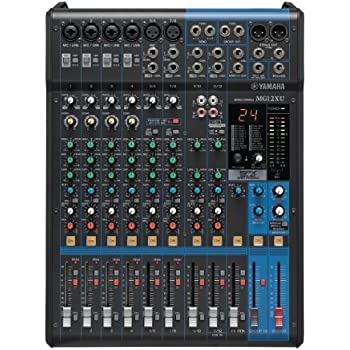 yamaha mixer. yamaha mg12xu 12-input 4-bus mixer with effects m