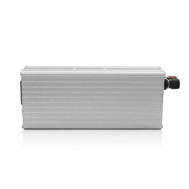 220V AC onduleur de Voiture Automatique Transformateur avec Ventilateur de Refroidissement USB Adaptateur Voiture 2000W DC /à AC convertisseur de Puissance DC 12V /à 110V Argent