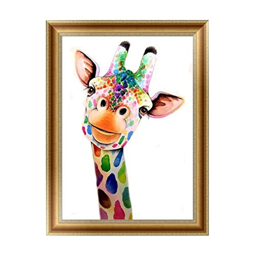 Adarl 5D DIY Diamond Painting Rhinestone Pictures Of Crystals Embroidery Kits Arts, Crafts & Sewing Cross Stitch (Color Giraffe) - Giraffe Tray