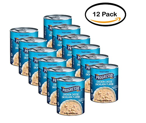 PACK OF 12 - Progresso Gluten Free Low Fat Traditional Chicken Cheese Enchilada Flavor Soup 18.5 oz Can