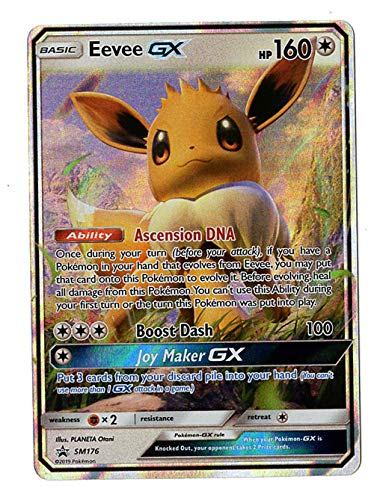 Eevee GX - SM176 - Special Collection Box - Holo Rare Promo Card Exclusive ()