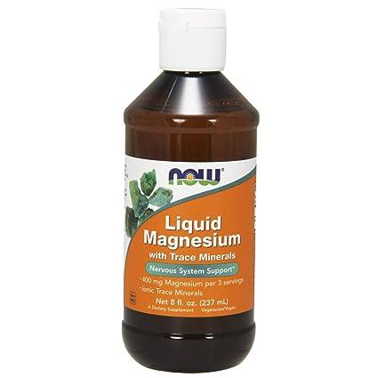 El magnesio líquido con minerales traza, oz fl 8 (237 ml) - Now
