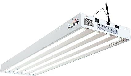 amazon com hydrofarm flt44 system fluorescent grow light 4 feet