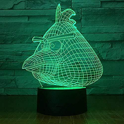 FSKJXYD Montreal Led Night Light 3D Illusion Children Kids Gift Sport Ice Hockey Night Lamp Puck Table Bedside Decoration ()