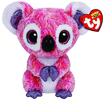 Amazon.com  Ty Beanie Boos Kacey The Pink Koala Plush  Toys   Games 0734c5b5c95