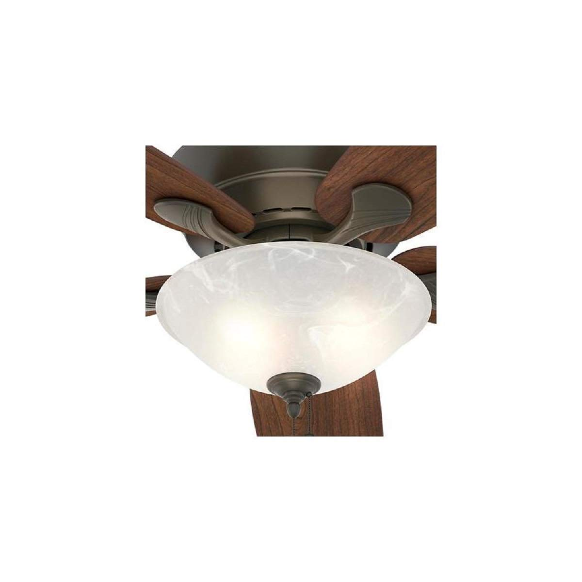 Hunter 60 Regalia New Bronze Ceiling Fan With Light Combo Power Enters At Switch Box One Wall