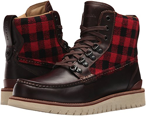 Cole Haan Men's Grandexplore Moc Toe WP Hiking Boot, Chestnut/Buffalo Plaid Wp, 10.5 Medium US