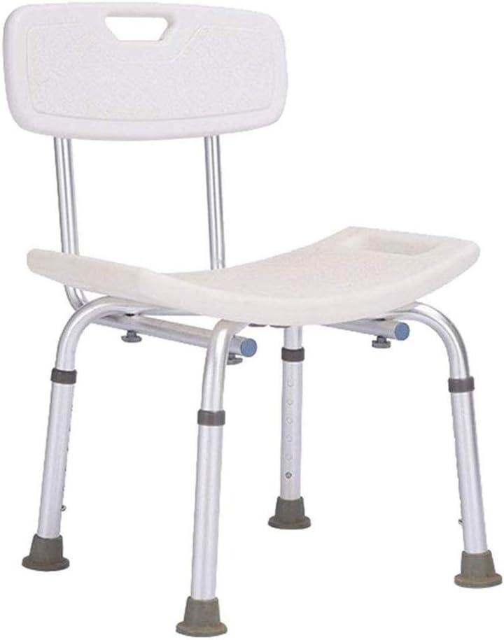 LBSX Silla de ducha de Altas Prestaciones con Volver - Silla de bañera con seguridad multifuncional for minusválidos, discapacitados, mayores y ancianos - ajustable Asiento for el baño Médico Asas - a