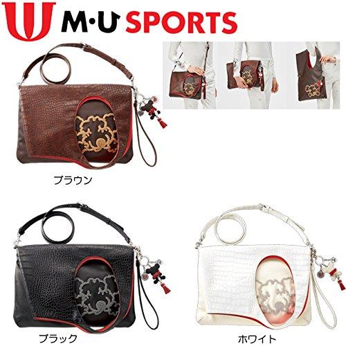MU SPORTS(エム ユースポーツ) 703V6014 チャーム付3WAY ShuShuポーチ ブラウン 703V6014 ブラウン   B075SYSNF9
