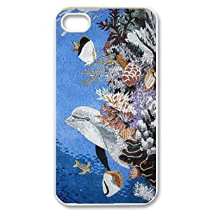 Cheap Dolphins at oceans Case Cover Best For Iphone 4 4S case cover FBGH-T493084