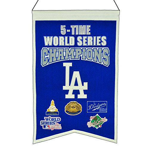 Winning Streak MLB Los Angeles Dodgers 5 Time WS Champions Banner, One Size