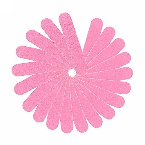 20PCS Trendy Pink Nail Manicure Buffer Sanding Files Buffing Sandpaper Grit