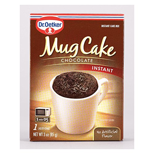 (Dr. Oetker Mug Cake Chocolate Instant Cake Mix 3-Ounce (Pack of 12))