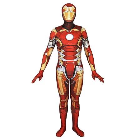 QQWE Iron Man Cosplay Body Elástico Pantys Disfraz Disfraz De ...
