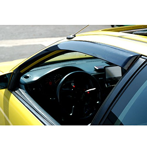 92 93 94 95 Coupe (VIOJI Front Smoke Sun/Rain Guard Vent Shade Window Visors Fit 92-95 Honda Civic 2-Door Coupe/3-Door Hatchback 2pcs)