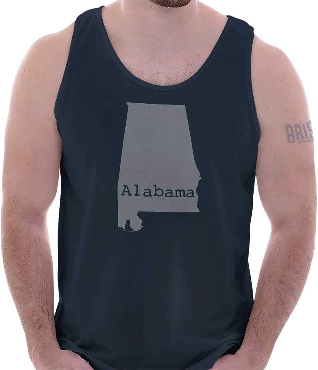 B018UNPC6U Classic Teaze Alabama State Map Shape Souvenir AL Pride Tank Top 51Fu6UcYC1L