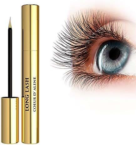 Coeur D'Alene Beauty - Enhancing Eyelash Growth Serum + Natural Booster + Grow Thicker Longer & Darker Lashes