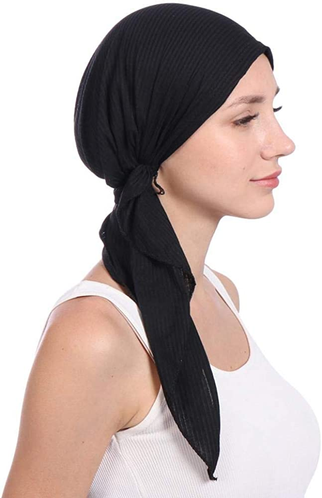 globalqi Frauenkopf Bedeckung Kopftuch Schal Mehrzweck Solid Color Chemotherapie Cap Haarausfall Schlaf Nightcap Turban Cap Schals F/ür Krebspatienten