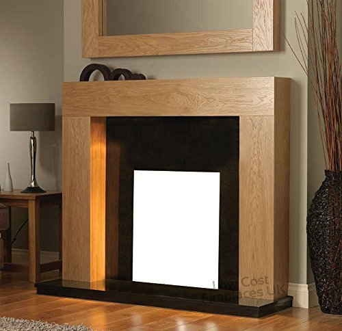 Solid Oak Electric Gas Fire Wood Fireplace Mantel Piece Mantle ...