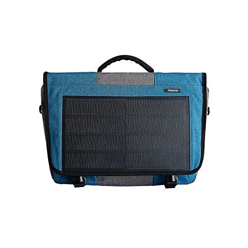 Hanergy 8W Solar Powered Laptop Computer Messenger Bags Electronics Bags Business Office Casual Cases Cloth Art Surface (Blue)
