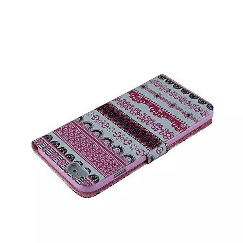 IPhone 6Plus 5.5inch Housse en Cuir Wallet Flip Case -Yaobai Protecteur Wallet Shell Housse Coque Etui avec TPU Soft Skin Case Cover avec des fentes de carte de credit Pour Apple iphone 6Plus Iphone6+