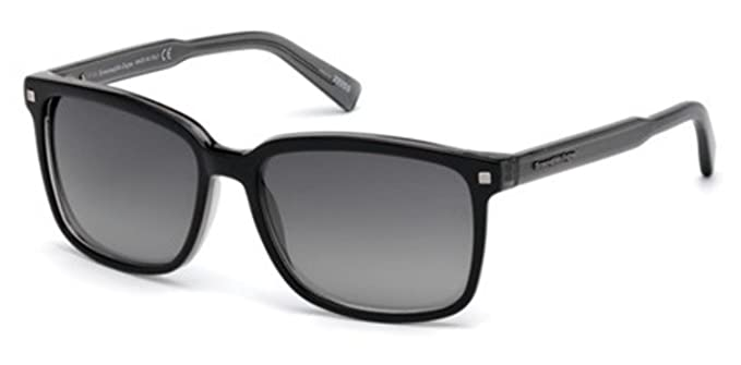 091baf9882 Image Unavailable. Image not available for. Colour  Ermenegildo Zegna  EZ0062 BLACK SMOKE SHADED men Sunglasses