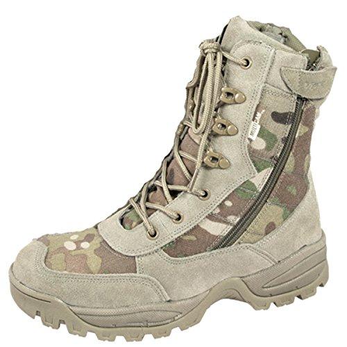 Botas militares de camuflaje de desierto (talla 42)