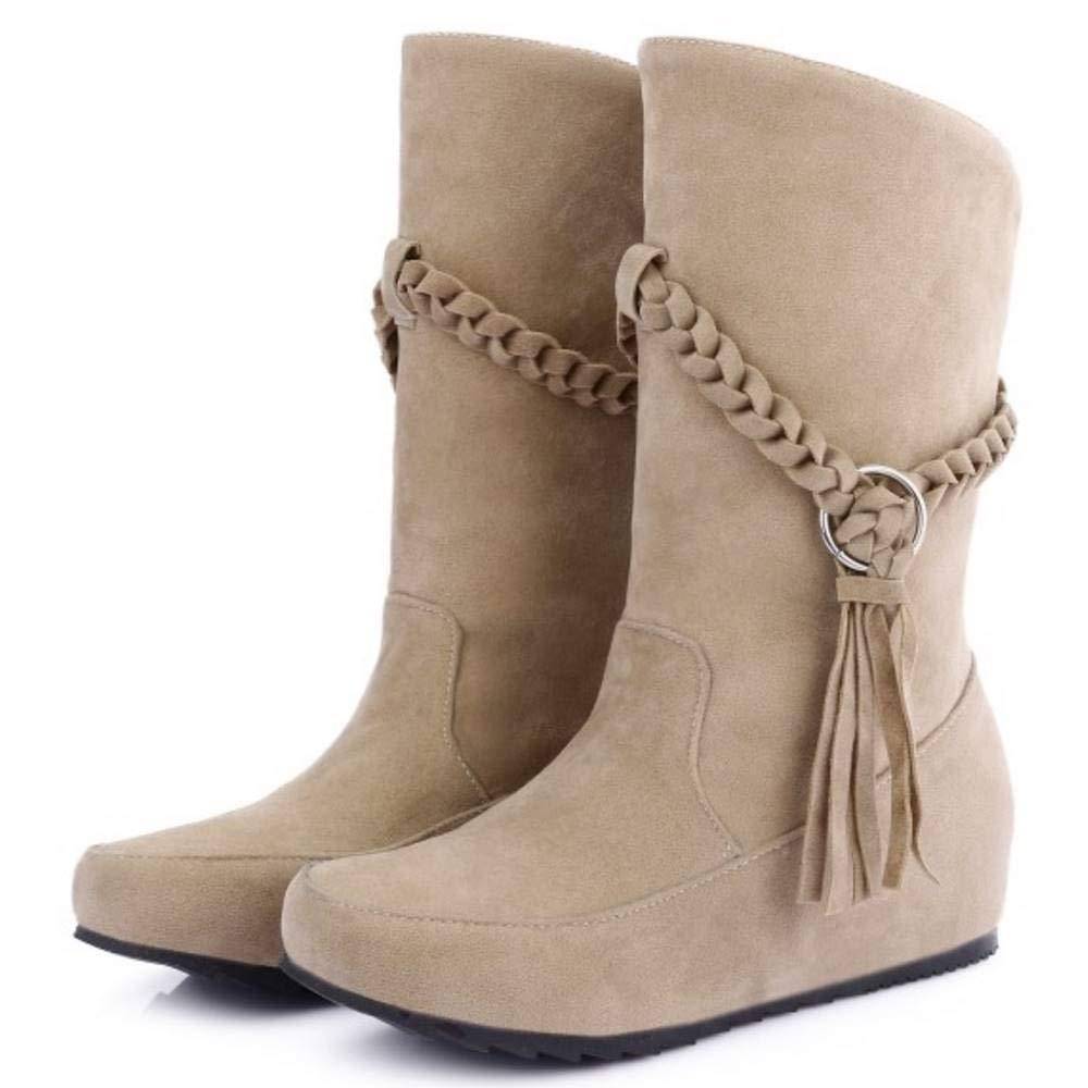 Shoes CularAcci Women Comfort Mid Heel Soft Boots justclickon.in