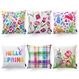 Easter Festival Series Square Throw Pillow Cushion Cover Sham for...