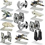 Star Wars (Set Of 12) Black Series Titanium Spaceships Models Vehicles Hasbro Toys Figures